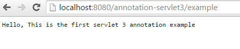 Servlet 3.0 Annotation Example