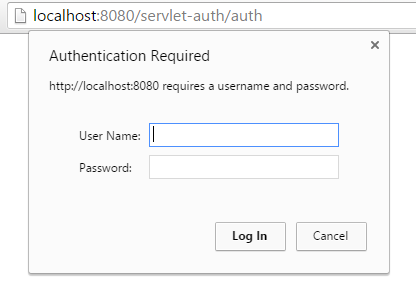 Servlet Basic Authentication Annotation Example
