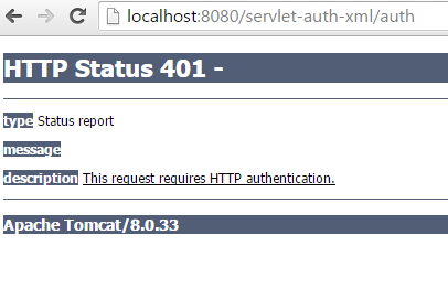 Servlet Basic Authentication Web.Xml Configuration 401