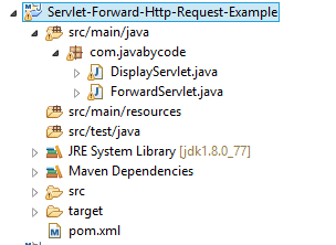 Java Servlet Forward Http Request Example