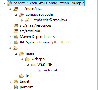 Java Servlet 3.0 Example using Web.xml