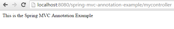 Spring mvc annotation example deploy