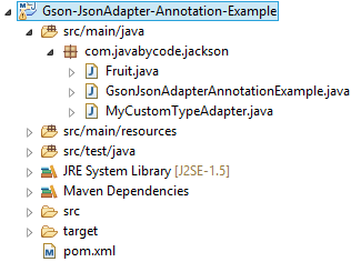 GSON Annotations Example using JsonAdapter