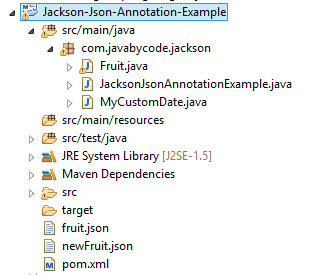 Jackson Json Annotation Example
