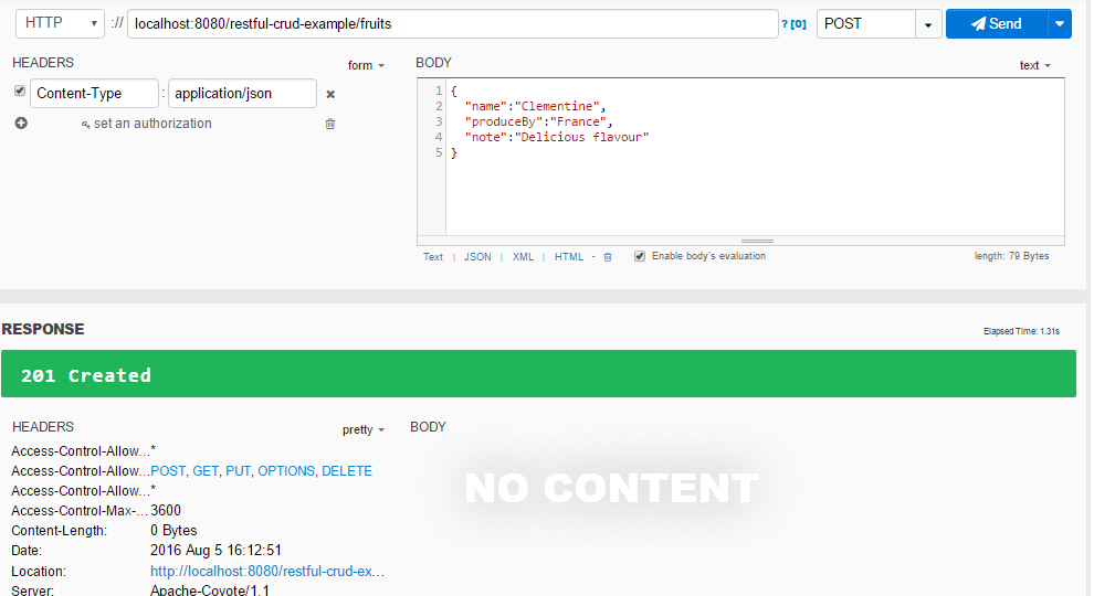 Spring MVC RESTFul Web Service CRUD Example created