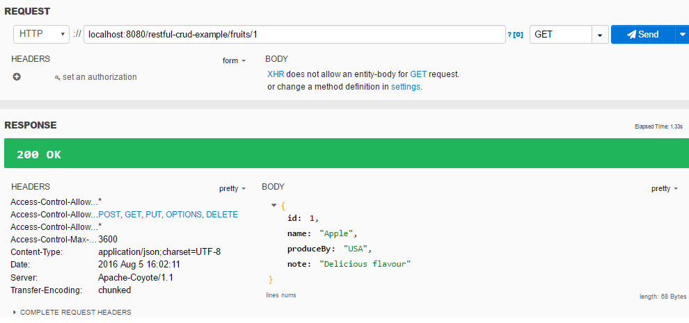 Spring MVC RESTFul Web Service CRUD Example get Id