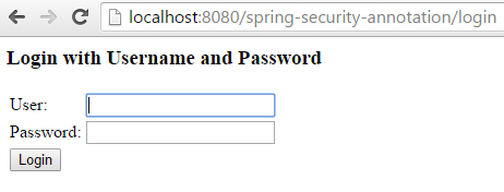 Spring Security 4 Authentication Annotation XML Example login