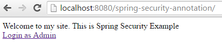 Spring Security 4 Authentication Annotation XML Example welcome