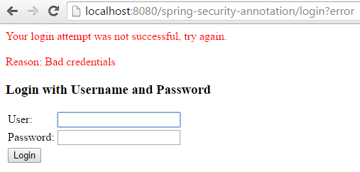 Spring Security 4 Authentication Annotation XML Example wrong