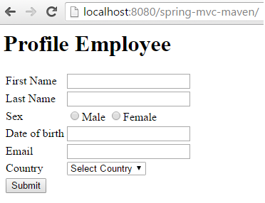 Creating Spring MVC Project in Eclipse Using Maven display