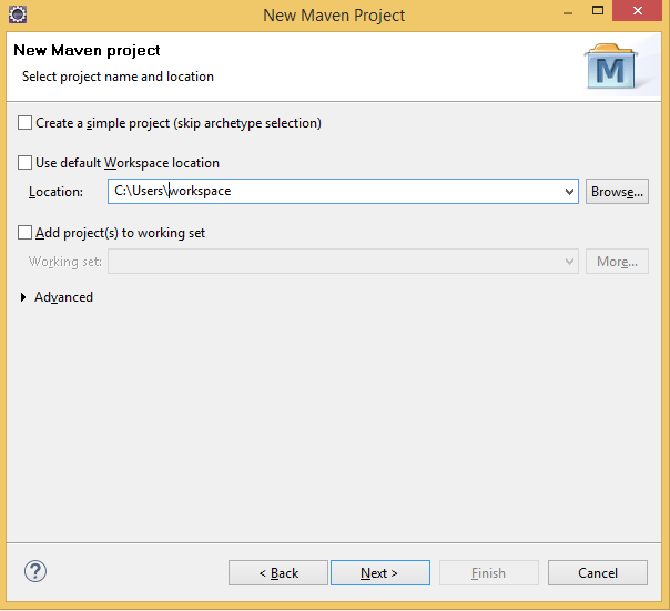 Creating Spring MVC Project in Eclipse Using Maven workspace