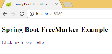 Spring Boot FreeMarker Hello World Example