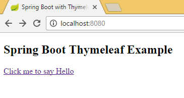 Spring Boot Thymeleaf Hello World Example