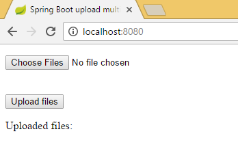 Spring boot upload multiple files example with Freemaker