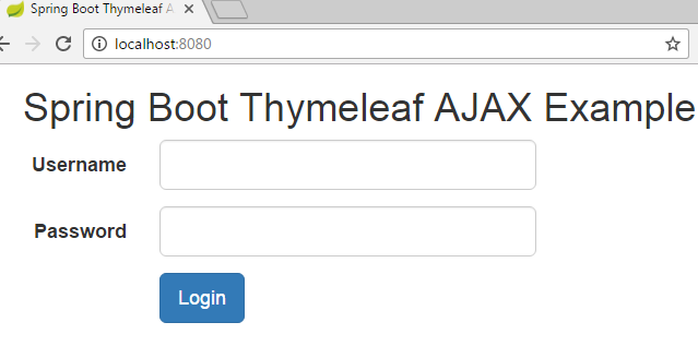 Spring Boot Thymeleaf Ajax Example
