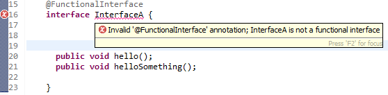 Java 8 functional interface example