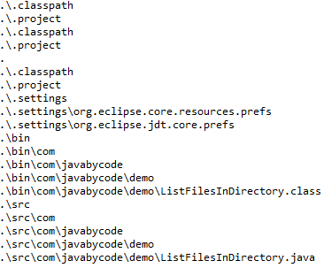 Java 8 list files in directory