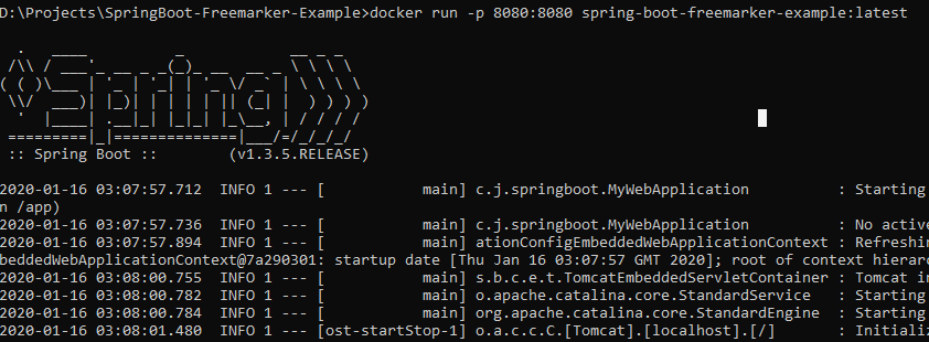 How to run Spring Boot with Docker